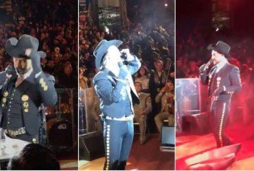 Captan a Alejandro Fernández cantando y ¿cayéndose de borracho?
